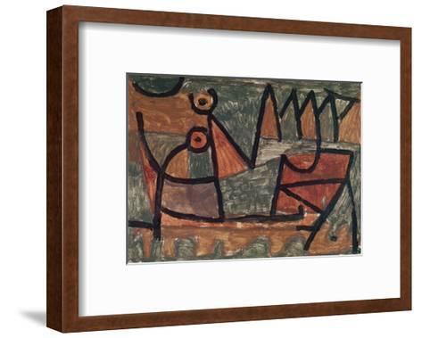 Sinister boat ride (Finstere Bootsfahrt). 1940, 345-Paul Klee-Framed Art Print