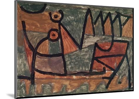 Sinister boat ride (Finstere Bootsfahrt). 1940, 345-Paul Klee-Mounted Giclee Print