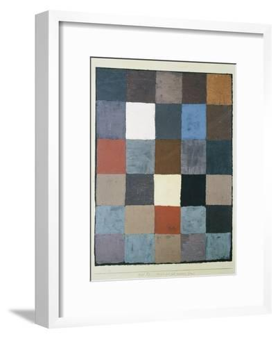 Table of colours (on grey) (Farbtafel (auf maiorem Grau)). 1930, 83-Paul Klee-Framed Art Print