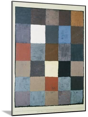Table of colours (on grey) (Farbtafel (auf maiorem Grau)). 1930, 83-Paul Klee-Mounted Giclee Print