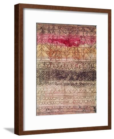 Jungwaldtafel. 1926-Paul Klee-Framed Art Print
