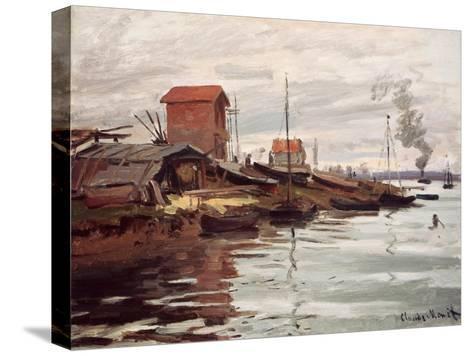The Seine at Petit-Gennevilliers. La Siene au Petit-Gennevilliers. 1872-Claude Monet-Stretched Canvas Print