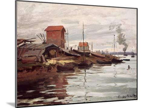 The Seine at Petit-Gennevilliers. La Siene au Petit-Gennevilliers. 1872-Claude Monet-Mounted Giclee Print