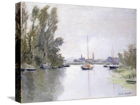 Argenteuil, view of the Small Arm of the Seine (Argenteuil, vue du Petit Bras de la Seine). 1872-Claude Monet-Stretched Canvas Print