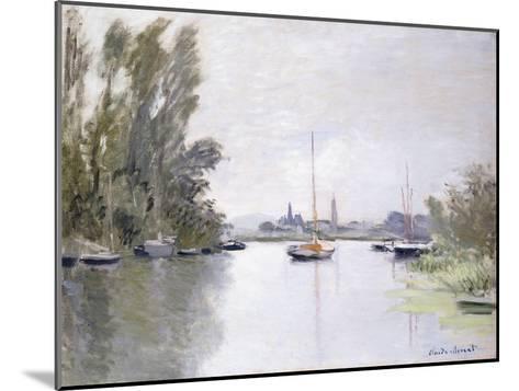 Argenteuil, view of the Small Arm of the Seine (Argenteuil, vue du Petit Bras de la Seine). 1872-Claude Monet-Mounted Giclee Print