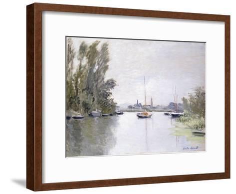 Argenteuil, view of the Small Arm of the Seine (Argenteuil, vue du Petit Bras de la Seine). 1872-Claude Monet-Framed Art Print