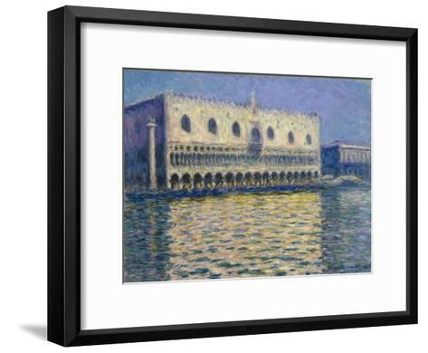 The Doge's Palace in Venice. 1908-Claude Monet-Framed Art Print
