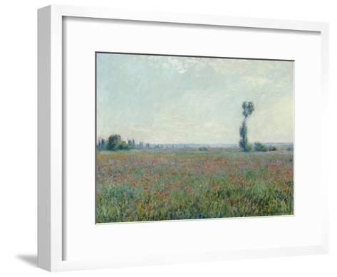 Champ de coquelicots - Poppy Field. 1881-Claude Monet-Framed Art Print