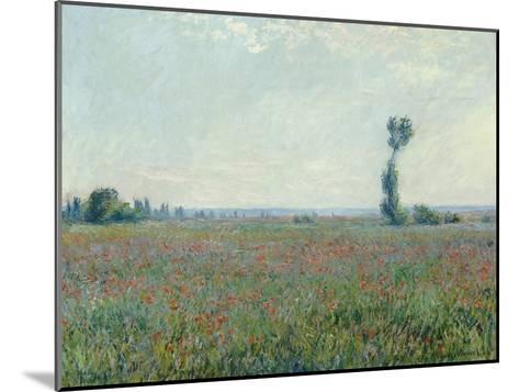 Champ de coquelicots - Poppy Field. 1881-Claude Monet-Mounted Giclee Print