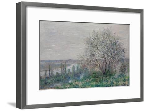 Spring mood, Vétheuil. 1880-Claude Monet-Framed Art Print