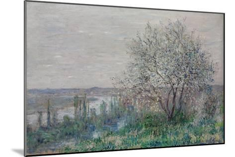 Spring mood, Vétheuil. 1880-Claude Monet-Mounted Giclee Print