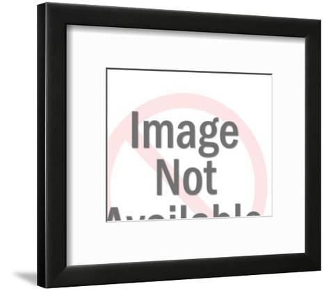 Close up of Man's Eyes and Speech Balloon-Pop Ink - CSA Images-Framed Art Print