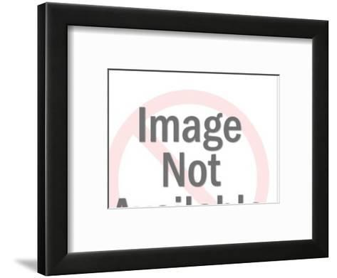 Close up of Woman With Man in the Background-Pop Ink - CSA Images-Framed Art Print
