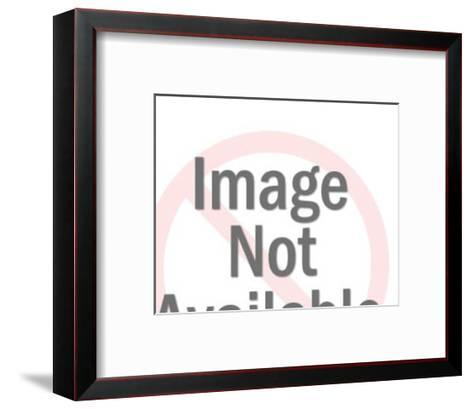 Crying Woman Looking At Robot Man-Pop Ink - CSA Images-Framed Art Print