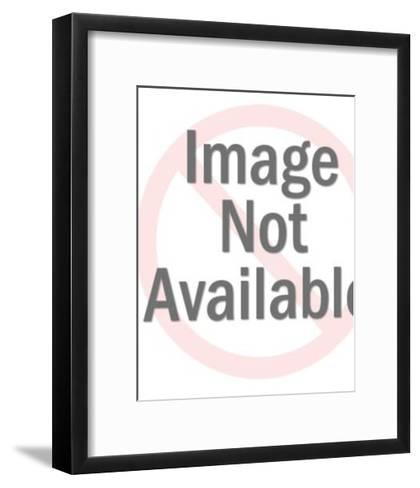 Worried Dark Haired Woman and Man-Pop Ink - CSA Images-Framed Art Print