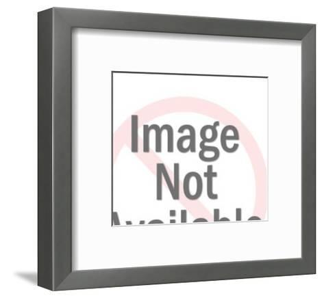 Close up of Unshaven Man in Hat-Pop Ink - CSA Images-Framed Art Print