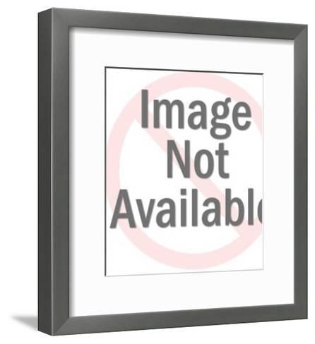 Portrait of Bald Man in Suit-Pop Ink - CSA Images-Framed Art Print