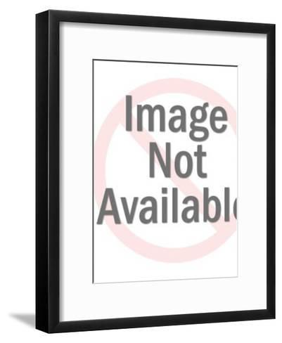 Man With Hand on Frightened Woman-Pop Ink - CSA Images-Framed Art Print