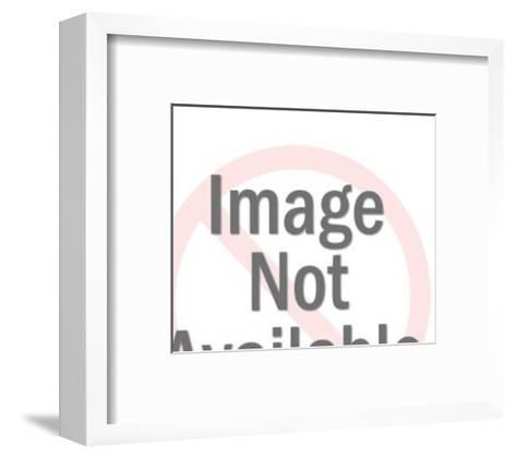 Angry Elderly Lady Pointing-Pop Ink - CSA Images-Framed Art Print