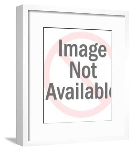 Close up of Blonde Mustache Man-Pop Ink - CSA Images-Framed Art Print