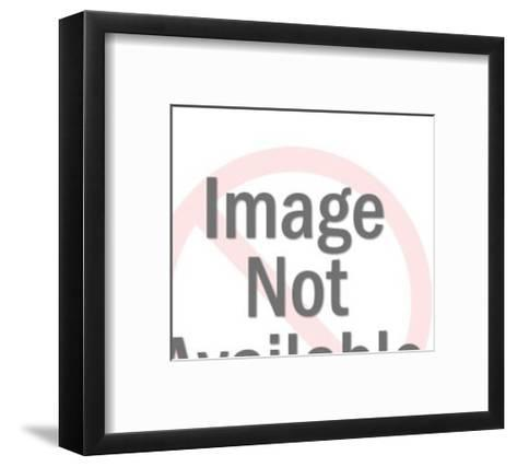 Dark Haired Man With Burst Behind His Head-Pop Ink - CSA Images-Framed Art Print