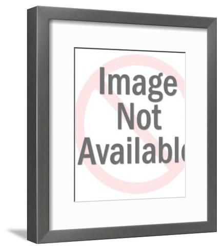 Close up of Elderly Man With Mustache-Pop Ink - CSA Images-Framed Art Print