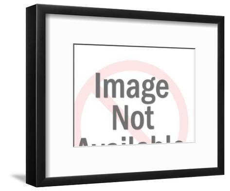 Man and Woman Kissing-Pop Ink - CSA Images-Framed Art Print
