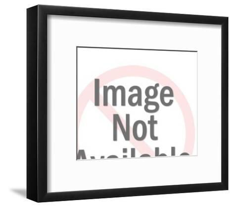 Mustache Man Looking at Woman-Pop Ink - CSA Images-Framed Art Print