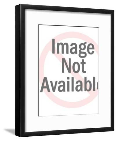Woman Typing-Pop Ink - CSA Images-Framed Art Print