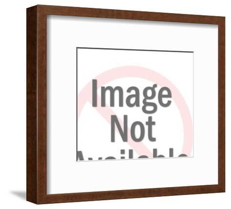 Lion Wearing Crown-Pop Ink - CSA Images-Framed Art Print