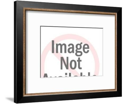 Dark Haired Woman Lying Down With Arms Crossed Under Head-Pop Ink - CSA Images-Framed Art Print
