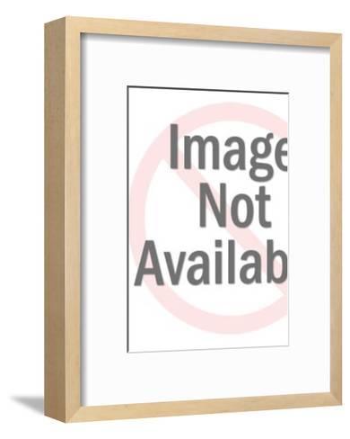 Woman Working at Desk-Pop Ink - CSA Images-Framed Art Print