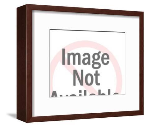 Profile of Man-Pop Ink - CSA Images-Framed Art Print