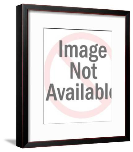 Mustache Man in Half Shadow-Pop Ink - CSA Images-Framed Art Print