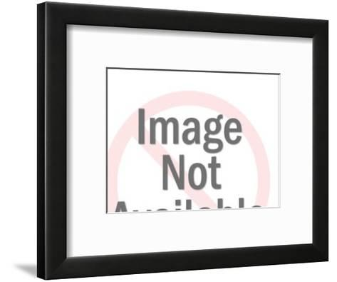 Dark Haired Woman With Burst Behind Her Head-Pop Ink - CSA Images-Framed Art Print