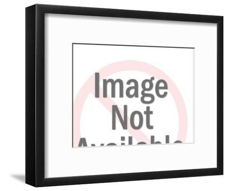 Close up of Woman's Face With Speech Balloon-Pop Ink - CSA Images-Framed Art Print