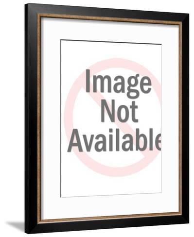 Twin Women Waving-Pop Ink - CSA Images-Framed Art Print