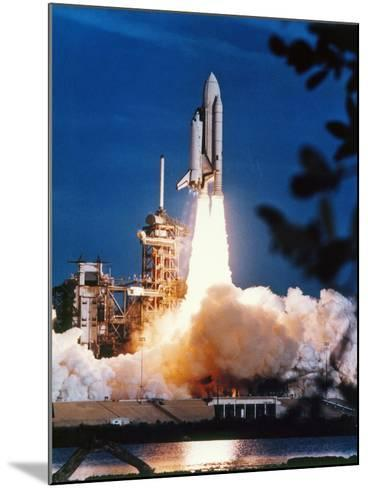 Launch of Columbia, the First Space Shuttle.--Mounted Photographic Print
