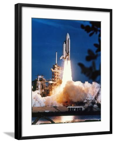 Launch of Columbia, the First Space Shuttle.--Framed Art Print