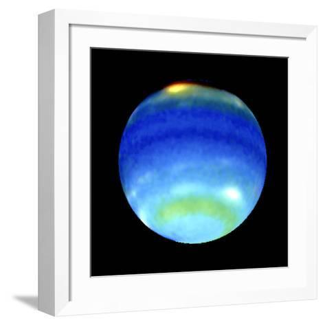 Planet Neptune, Showing Weather Patterns--Framed Art Print