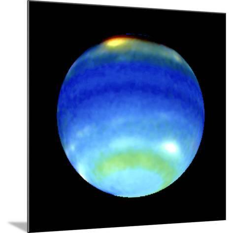 Planet Neptune, Showing Weather Patterns--Mounted Photographic Print