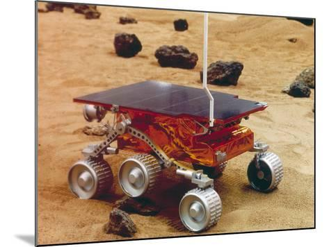 Model of the Mars Pathfinder Rover Sojourner--Mounted Photographic Print