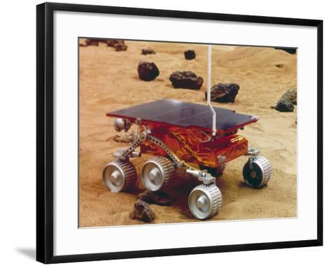 Model of the Mars Pathfinder Rover Sojourner--Framed Art Print