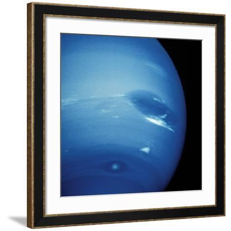 Voyager 2 Image of Neptune--Framed Art Print