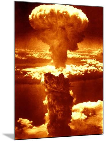 Atomic Burst Over Nagasaki, 1945-us National Archives-Mounted Photographic Print