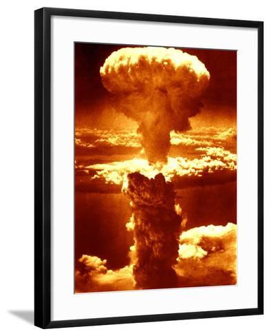 Atomic Burst Over Nagasaki, 1945-us National Archives-Framed Art Print