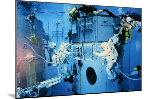 Astronauts Underwater Rehersal, HST Repair Mission--Mounted Photographic Print