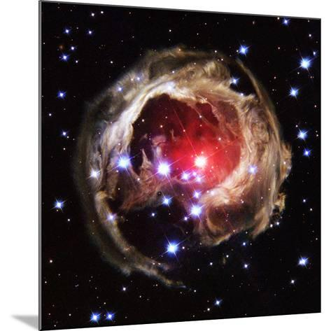 Light Echoes From Exploding Star--Mounted Photographic Print