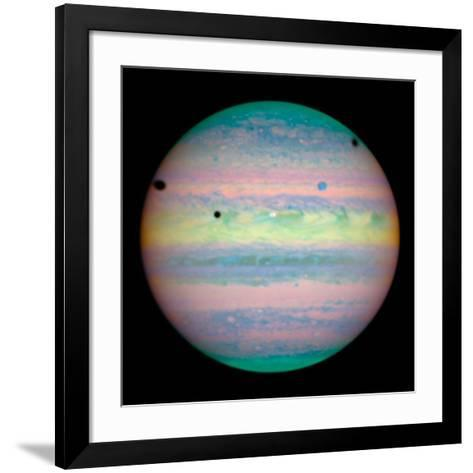 Jupiter with Moons And Their Shadows--Framed Art Print
