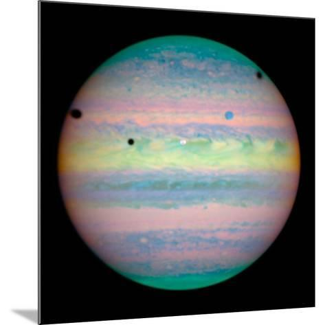 Jupiter with Moons And Their Shadows--Mounted Photographic Print